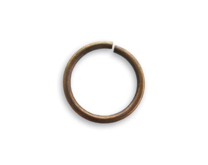 10 15mm 15 Gauge Jump Rings  Natural Brass Vintaj Item JR60