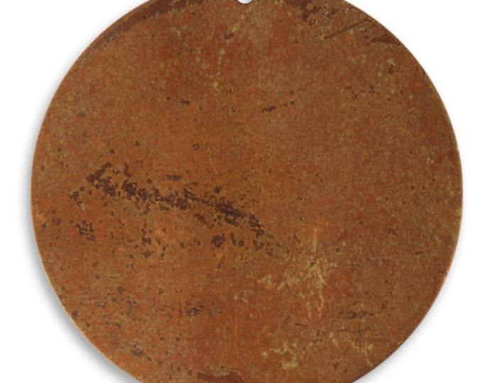 4 pieces Large Copper Circle Blank,Vintaj Copper, Vintaj Item CHW0005, Size: 33.5mm
