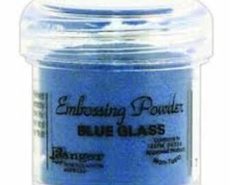Blue Glass Embossing Powder,  Embossing Powder by Ranger, 1 oz Jar