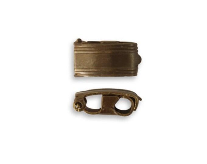 3 pieces 13x6.5mm Bracelet Foldover Clasp - Item  CL0001 Vintaj Natural Brass