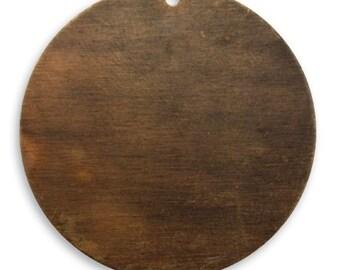 6 pieces 34mm Altered Circle Blank Antique Brass Vintaj Item P295