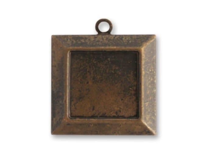 4 pieces 20mm Brass Picture Frame Bezel Vintaj Item P340