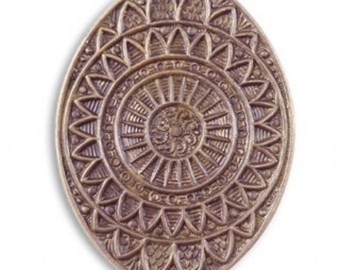 Brass Mandala Eye Pendant, Focal Piece, Vintaj Natural Brass Designer Series, P023