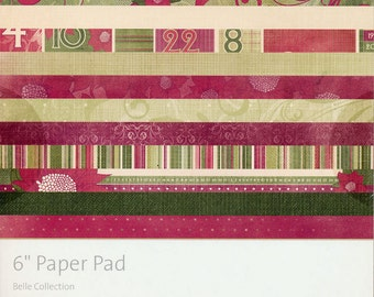 "6"" paper pad Christmas Colors Belle Collection by KaiserCraft 34 pages total"
