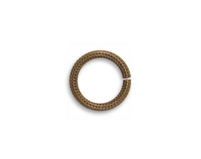 8 pieces Brass Jump Rings 11mm Roped Jump Rings, Vintaj Item JR108