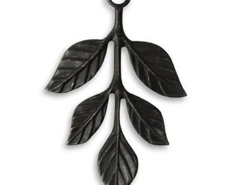 2 pieces 36x23.5mm Tiered Leaves, Arte Metal leaves and branch, Vintaj item afs0002