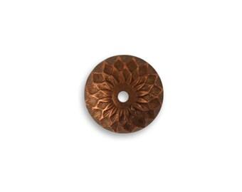 4 Pieces Copper Acorn Bead Cap, Vintaj Item CBC0001, Copper Acorn bead cap size 12.5mm