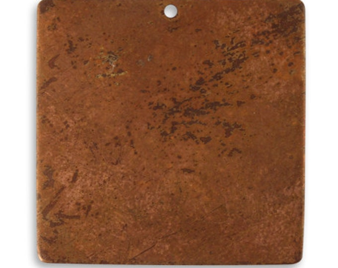 4 pieces Large Copper Square Blank,Vintaj Copper, Vintaj Item CHW0003, Size: 29.5mm