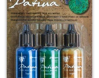 Faded Pickup Vintaj Patina Kit,  Ranger Patina Kit, Lapis, Emerald, Topaz Paints for Metals