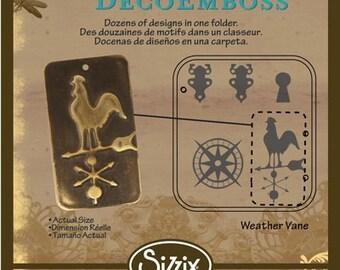 Weathervane Deco Emboss Folder by Sizzix and Vintaj, Vintaj Embossing Folders