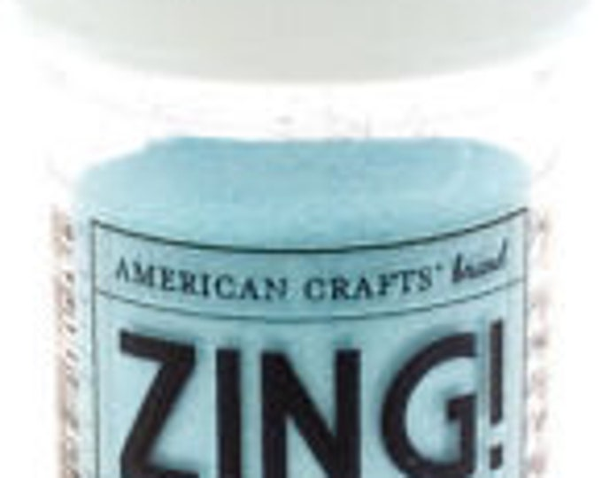 Opaque Powder Colored Embossing Powder, Zing Embossing Powder, 1 oz Jar, Powder light blue/green Powder