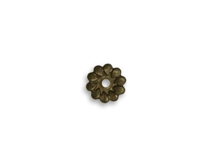 6 pieces of 7.5mm Pinwheel Washer natural brass by VINTAJ -  HW0061