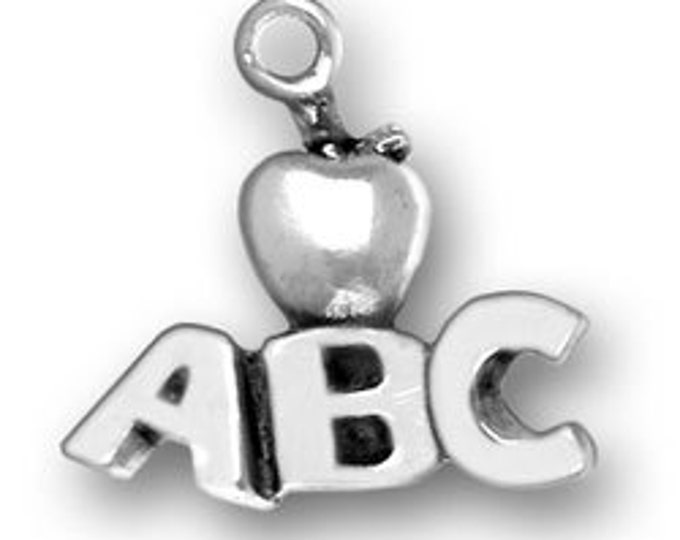 Sterling Silver ABC Apple Charm