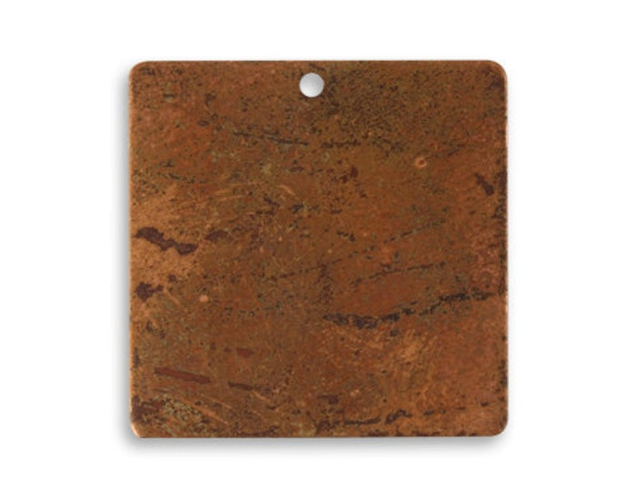4 pieces Small Copper Square Blank,Vintaj Copper, Vintaj Item CHW0004, Size: 23.5mm