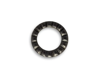 CLEARANCE: 6 Pieces Hobnail Ring Decorivet by Vintaj Item ADV024 Arte Metal Grey, Discontinued
