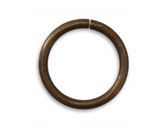 4 pieces Large brass Jump Rings, 20.5mm Smooth Jump Rings, Vintaj Natural Brass Item JR116