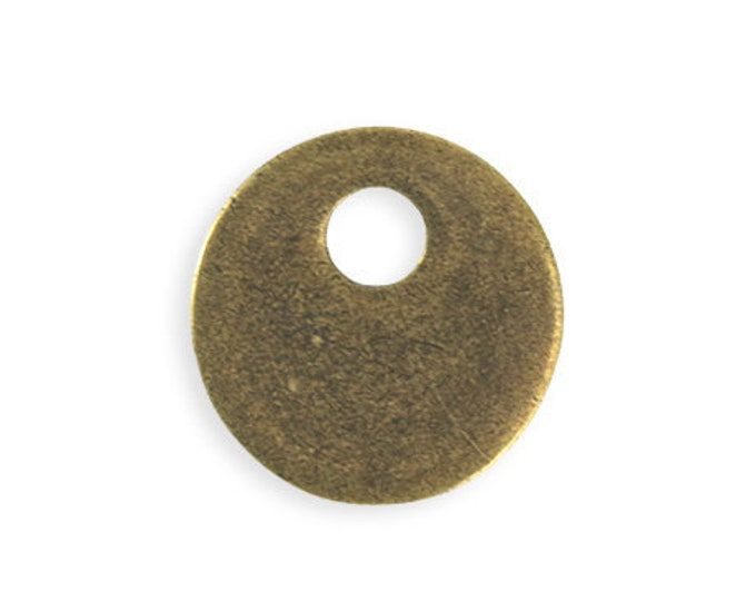 1 piece 24mm Asymmetrical Donut Blank - Brass Antique Plated Vintaj PT102-270
