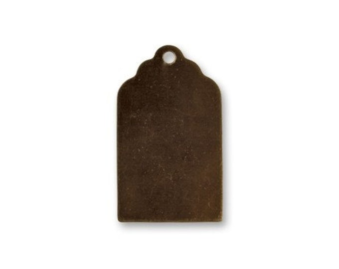 6 pieces 21x13mm Luggage Tag  Item P0519 by Vintaj Antique Brass Luggage Tag Blank