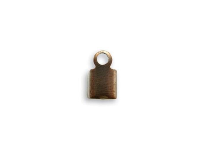 10 pieces 9mm Crimp End Natural Brass Vintaj Item CE20