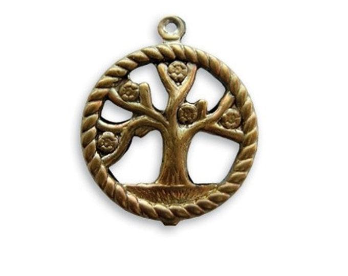 1 piece of  24 x 20mm Tree of Life  charm/pendant by VINTAJ -  P220