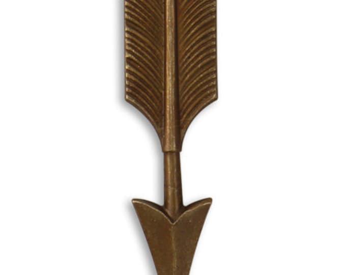 2 Pieces Brass Arrow Pendant, 45x11mm, Vintaj Natural Brass P339