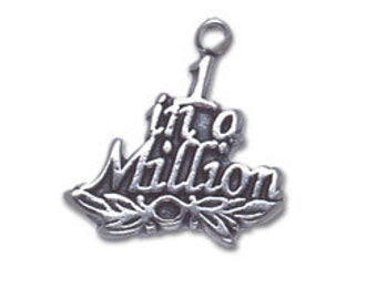 Sterling Silver 1 in a Million Charm