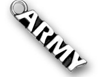 Sterling Silver ARMY charm