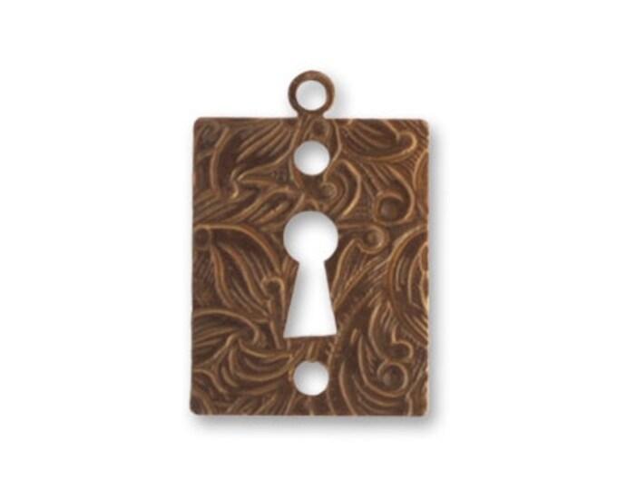 2 pieces Keyhole, 21x14mm Brass Keyhole Frame, Vintaj Natural Brass, Vintaj DP411