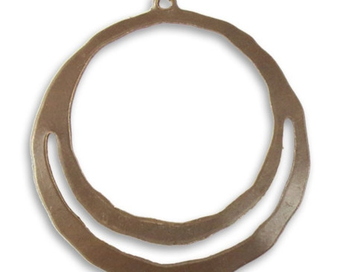 4 pieces Wandering Pathway pendants, natural brass, Vintaj item DP057