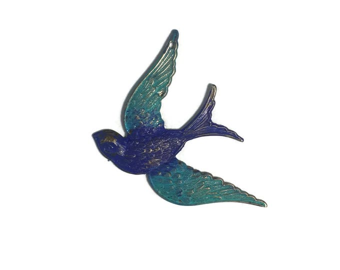 Hand Painted Fanciful Bird Pendant