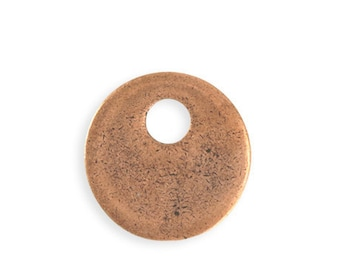 1 piece 24mm Asymmetrical Donut Blank - Copper Antique Plated Vintaj PT102-170
