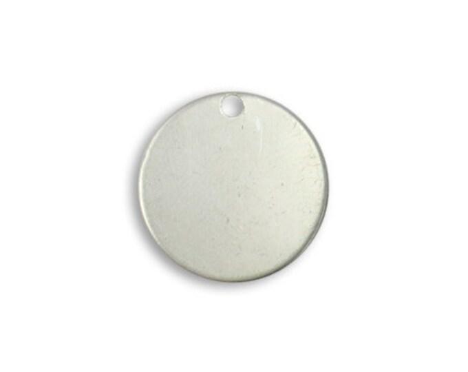 5 pieces Small Pewter Circle Blank, 16mm Vintaj Item PT082
