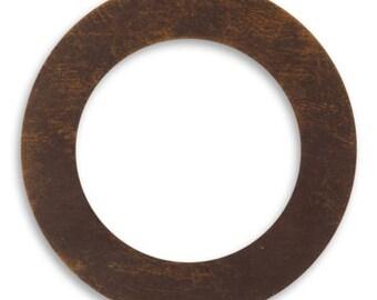 2 Pieces 34mm Brass Circle Frame