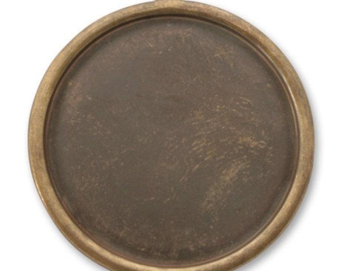 2 Pieces Brass Circle Bezel Pendant, Vintaj Natural Brass Item P390