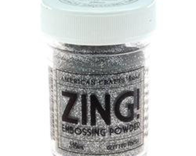 Silver Glitter finish Embossing Powder, Zing Embossing Powder, 1 oz Jar, Silver Embossing Powder