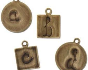 Lowercase Handwriting Deco Emboss Folder by Sizzix and Vintaj, Vintaj Embossing Folders