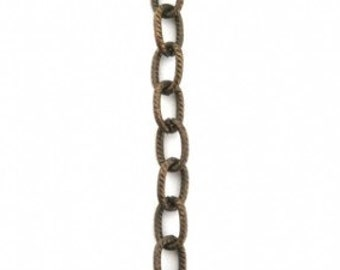 Choose Length 4mm Petite Etched Cable Chain (CH35) Vintaj Brass Chain