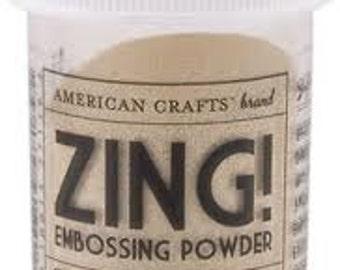 Opaque Brown Sugar Embossing Powder, Zing Embossing Powder, 1 oz Jar, Light brown Powder