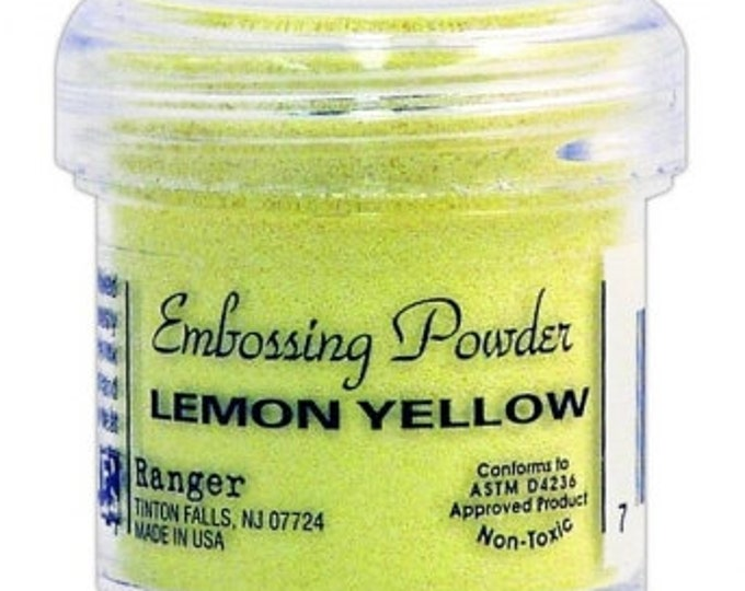 Lemon Yellow Embossing Powder,  Embossing Powder by Ranger, 1 oz Jar