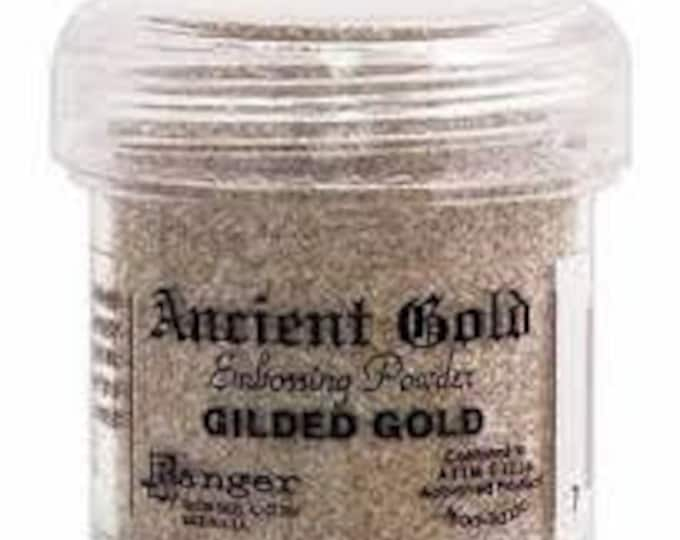 Gilded Gold Embossing Powder,  Embossing Powder by Ranger, 1 oz Jar, Ancient Gold Embossing Powders