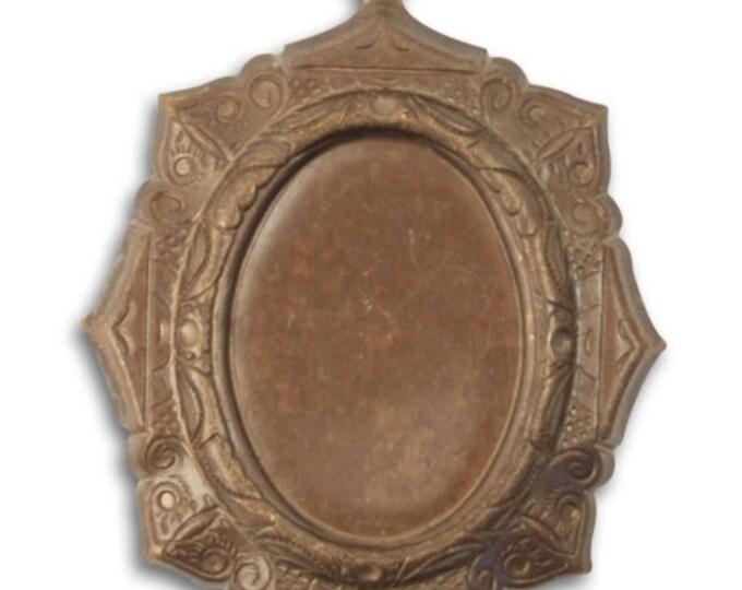SALE: Oval Frame Bezel, Vintaj Natural Brass, P0007