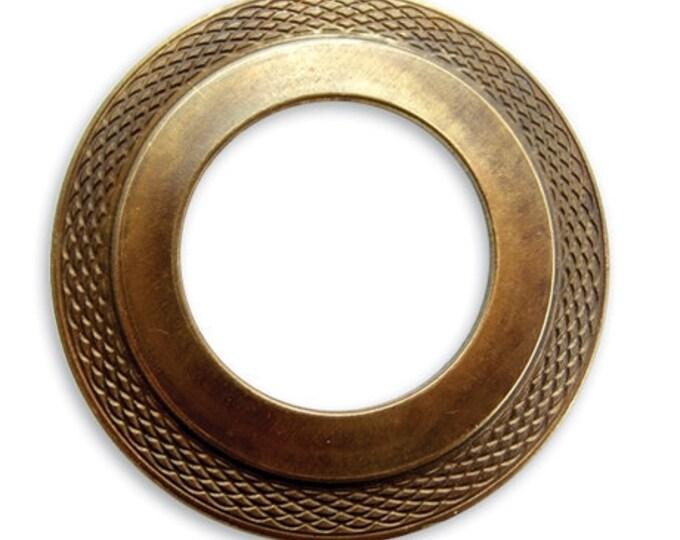 Brass Multi-tiered Donut Pendant by Vintaj Item P90 40mm
