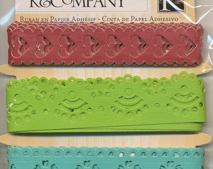 Adhesive Paper Ribbon by K and Company - Wild Raspberry Collection