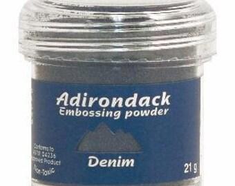Denim Blue Embossing Powder, Adirondack Embossing Powder by Ranger, 1 oz Jar