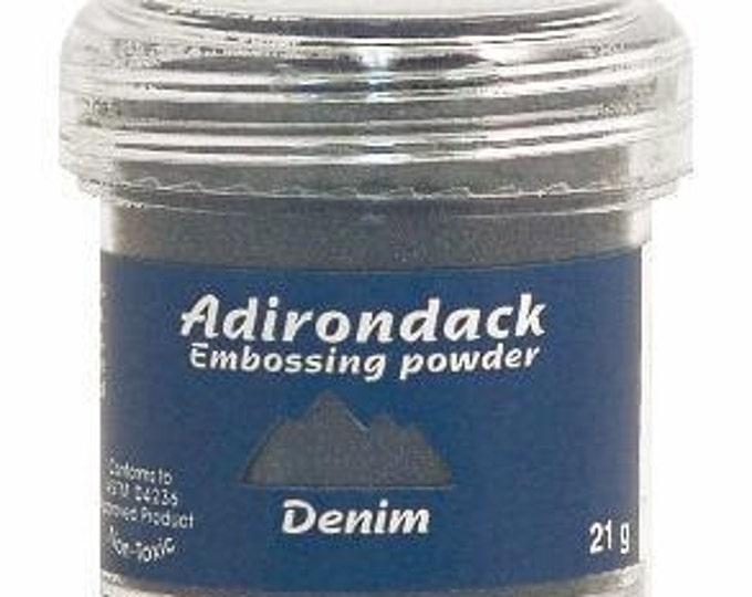 Denim Blue Embossing Powder, Adirondack Embossing Powder by Ranger, 1 oz Jar