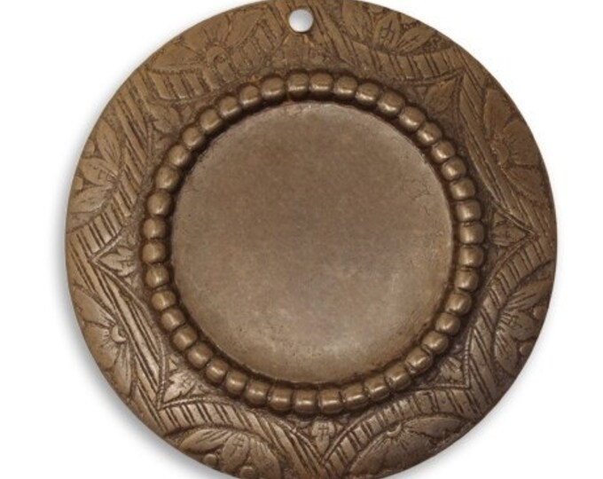SALE 2 pieces 30mm Petite Rosemal Bezel Vintaj Natural Brass item P0019