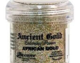 African Gold Embossing Powder,  Embossing Powder by Ranger, 1 oz Jar