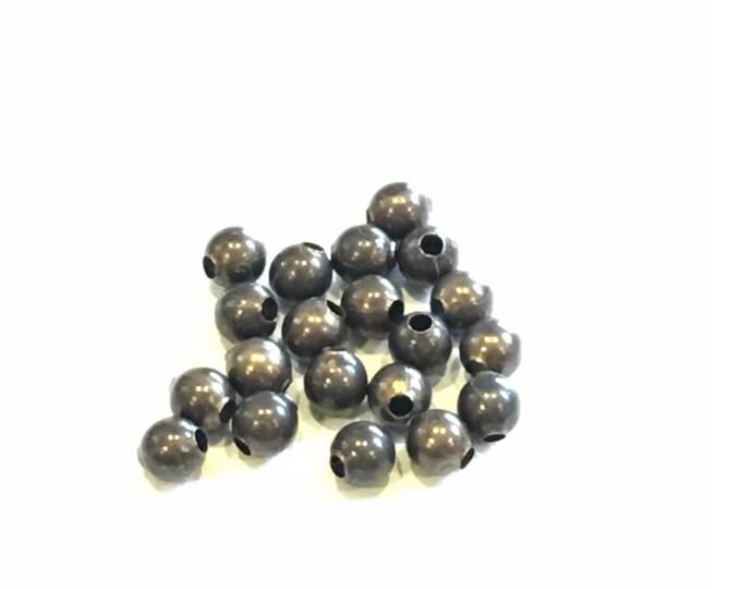 20 pieces 3.2mm Round Brass Bead/Spacer, Vintaj Natural Brass, BD241