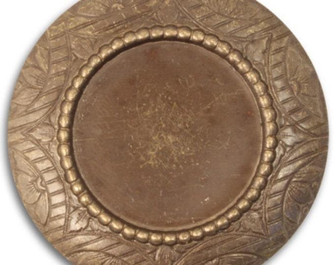 Rosemal Bezel Frame Pendant, Brass Frame Bezel, Vintaj P0008, 42mm