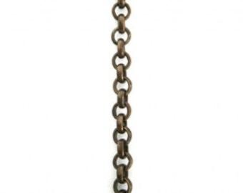 SALE Choose length 3.5mm brass Rollo Chain, Vintaj Natural Brass item CH90